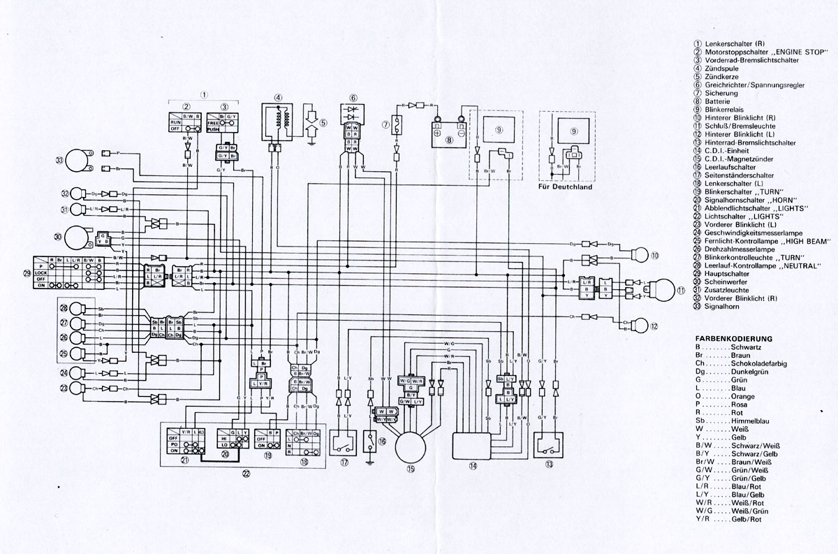 yamaha xt 250 wiring diagram free download  yamaha  free