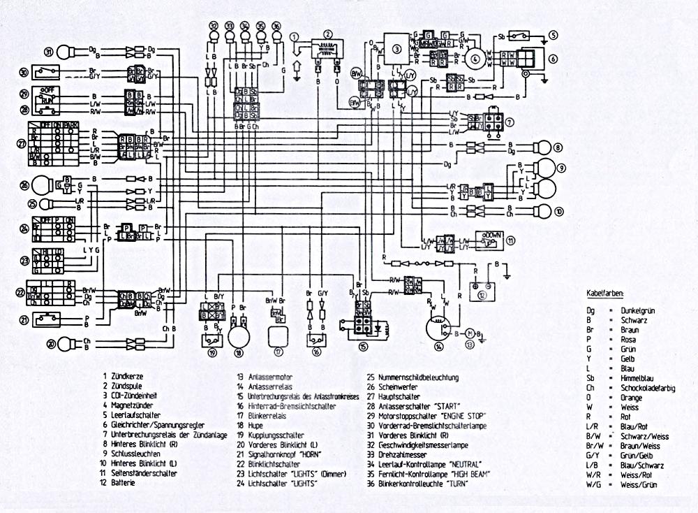 Schema Elettrico Yamaha Xt 600 : Xt